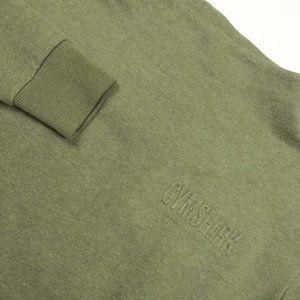 Gymshark So Soft Olive Green Heather Logo Sweater